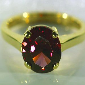 Jewelry - Umbalite 5.10ct Solid 18K Yellow Gold Ring